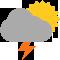 Intervalles nuageux avec averses orageuses