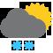 Ciel nuageux avec averses de neige