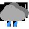 Ciel couvert avec pluies faibles